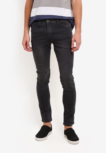 Penshoppe grey Reversible Skinny Fit Pocket Jeans PE124AA0RZADMY_1