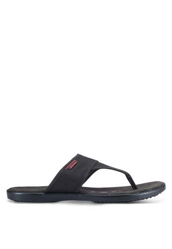 Louis Cuppers black Casual Sandals LO977SH0RF81MY_1