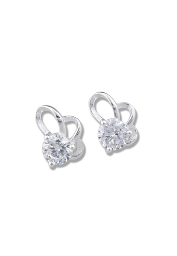SC Tom Silver silver Flower Stud Stone Earrings-TESS011 SC872AC58OLXPH_1
