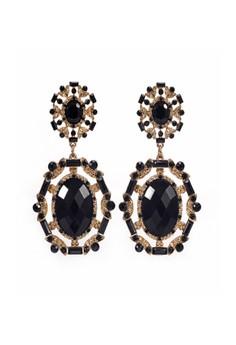 Faux Stone Chandelier Earrings
