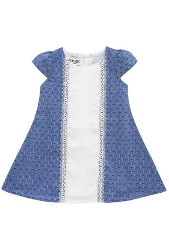 FIYORA blue Alexandra Cotton Girl Dress 5FB0CKA1BCFA8CGS_1