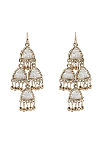 Red's Revenge gold Seed Beads Chandelier Statement Earrings 571CDACB736E03GS_1