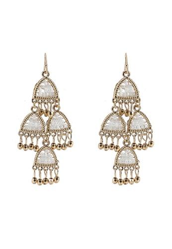 Seed Beads Chandelier Statement Earrings