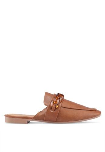 Rubi 褐色 Carey 鏈條穆勒鞋 804E7SHA46D8ABGS_1