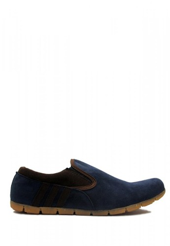D-Island blue D-Island Shoes Slip On Casual Loafers Suede Blue DI594SH68KOLID_1
