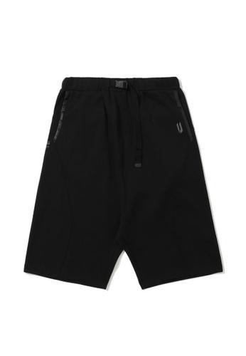 Fivecm black Buckle detail loose shorts 9CBF1AAB866A72GS_1