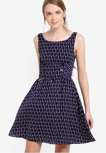 印花無袖連esprit 門市身裙, 服飾, 洋裝
