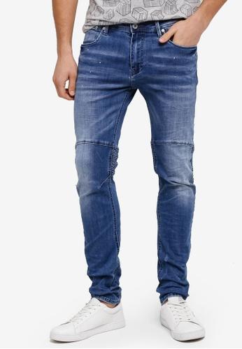 CR7 藍色 時尚休閒 Moto X 牛仔褲 CR532AA0SYI7MY_1