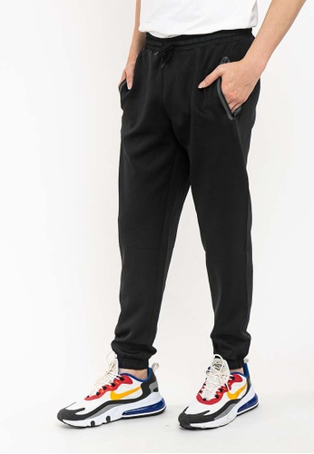 FOREST black Forest Stretchable Jogger Pants - 10713-01Black 3D48CAAAEFE08BGS_1