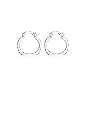 Glamorousky silver Fashion Simple Geometric Oval Earrings 692BEACB2F0C46GS_1