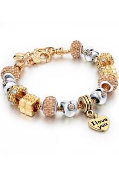 Robotic Hearts Design Charm Bracelet by ZUMQA