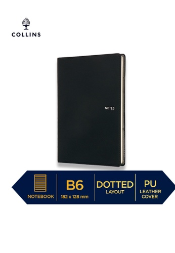 Collins black Collins Metropolitan Melbourne  ─  Notebook B6 Dotted Black 92A98HLDFEA70FGS_1