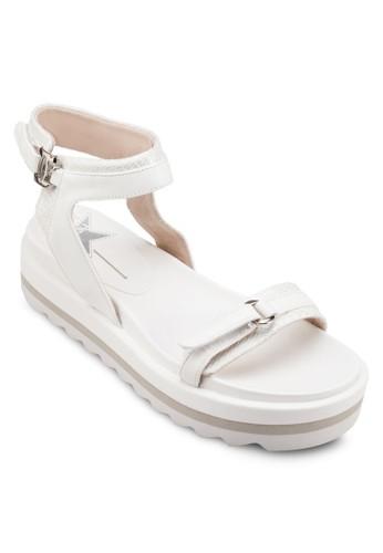 蛇紋三色厚底涼鞋, 女zalora taiwan 時尚購物網鞋, 涼鞋