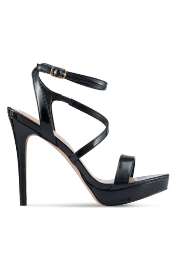 ALDO black Poade Heeled Sandals 4E101SHFFF18CDGS_1