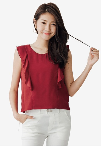 Tokichoi red Ruffle Sleeveless Top BD328AABEB64B8GS_1