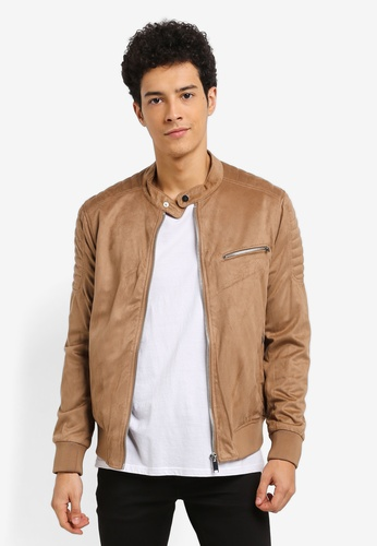 River Island brown Racer Jacket EFE76AAC086933GS_1