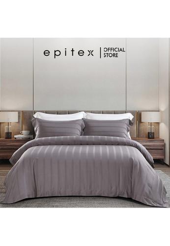Epitex grey Epitex XH5811 Tencel 1000TC Printed Bedsheet - Fitted Sheet Set - Bedding Set (w/o quilt cover) - Soft Zinc 3B5C9HL832F3A7GS_1