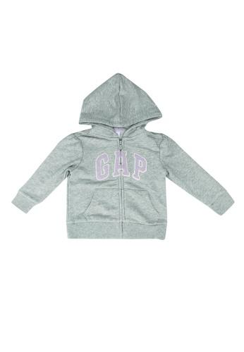 GAP grey Logo Full Zip Hoodie 14355KAD5EE18BGS_1