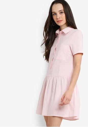 Something Borrowed 粉紅色 短袖襯衫洋裝 9DDE7AA66721DBGS_1