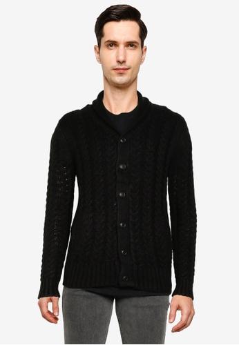 Brave Soul 黑色 針織罩衫 B4A05AA2DFE7C4GS_1