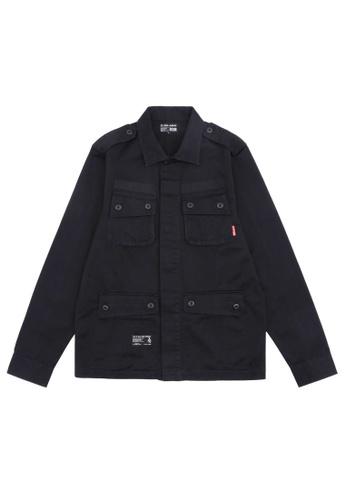 izzue black Appliqued shirt 94F81AA563B338GS_1
