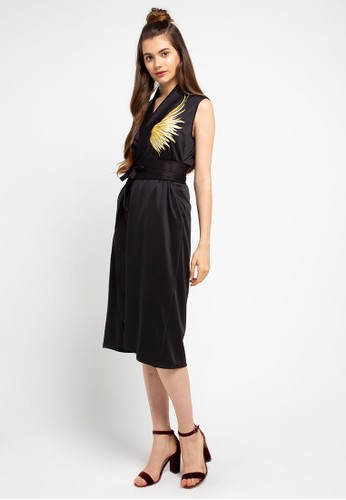 Ans.Ein black Golden Wings Black Blazer Dress 81687AAF3803BBGS_1