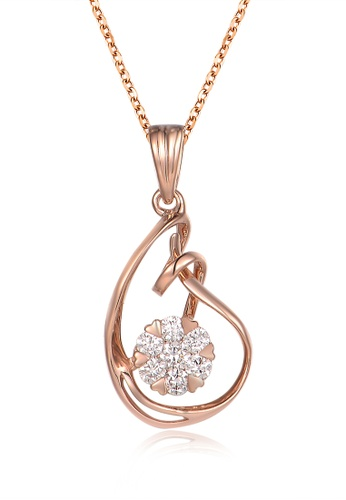 Prince Jewellery And Watch red and gold 18K Rose Gold Diamond Drop Pendent B8449AC021433BGS_1