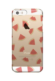Watermelon Slice Transparent Hard Case for iPhone 5, 5s