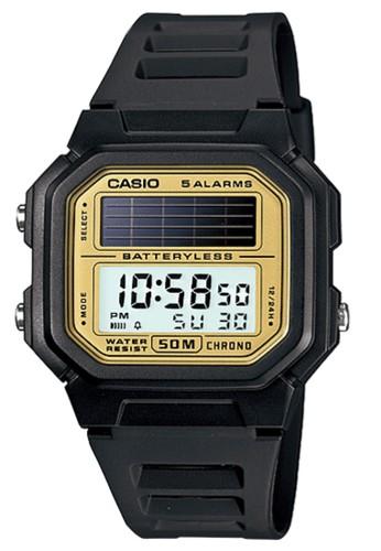 Casio Solar Power Digital Jam Tangan Pria Hitam Strap Karet - AL-190W-9A 187dd71826