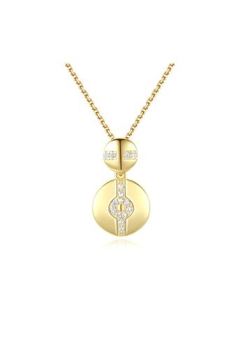 SUNRAIS gold Premium Silver S925 Gold Simple Design Necklace C4C49AC99EE1CDGS_1