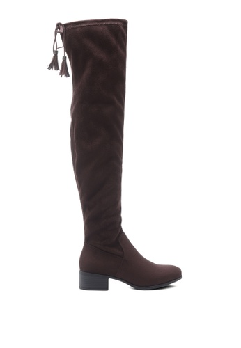 London Rag brown Faux Leather Over the Knee Boots 1B848SHC8B1ED0GS_1