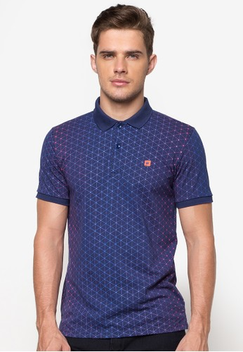 Printed Polo Shirt (Blue)