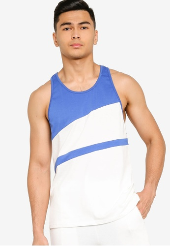 ZALORA ACTIVE blue Active Colourblock Racer Back Vest 83020AADD51FA1GS_1