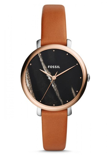 Fossil brown Fossil Jacqueline - Black Round Dial 36mm - Leather - Brown - Jam Tangan Wanita - ES4378 57343ACE3E1E2DGS_1