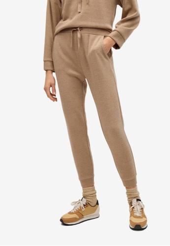 Mango grey Knit Jogger-Style Trousers CBFDBAA6242C39GS_1