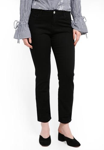 Dorothy Perkins black Regular Black Ashley Straight Jeans 0CE57AAEC641EBGS_1