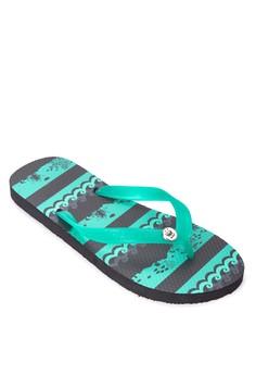 Ocean Stripes Flip Flops