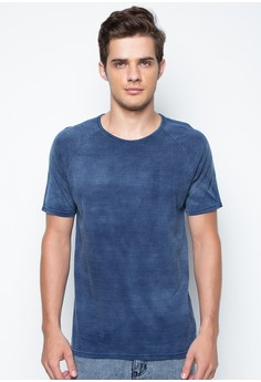 Indigo Washed Raglan Tee