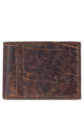 Lumberjacks 仿舊esprit outlet hk暗紋對折皮夾, 飾品配件, 飾品配件