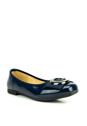 Mario D' boro Runway blue Betsy Flat Shoes 77FACSH2FED92CGS_1