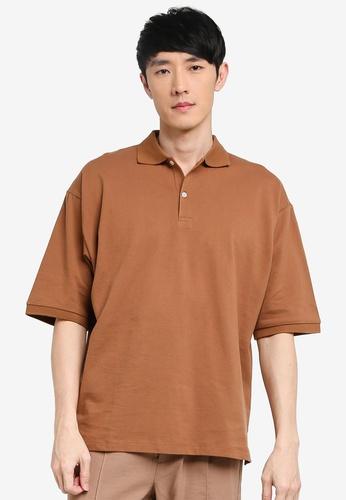 niko and ... brown Loose Polo Shirt 43051AA1035FCEGS_1