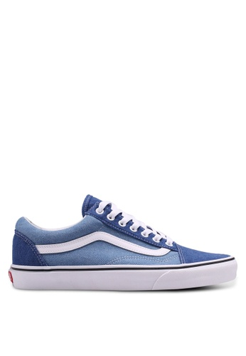 VANS white and blue Old Skool Denim 2-Tone Sneakers VA142SH0SWT1MY_1