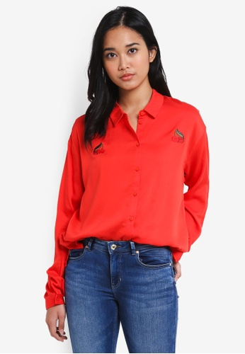 ONLY red Beso Shirt 28571AA5EF2B0BGS_1