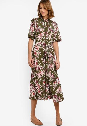 1b890661efd Buy French Connection Floriana Drape Midi Shirt Dress Online on ZALORA  Singapore