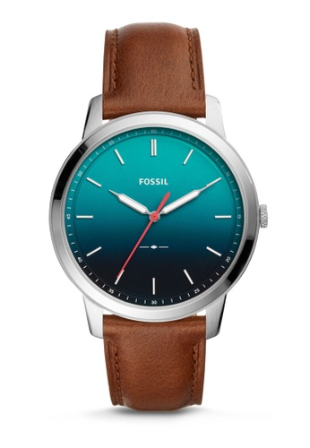 Fossil brown The Minimalist Leather Watch FS5440 4802CAC56F2B2EGS_1