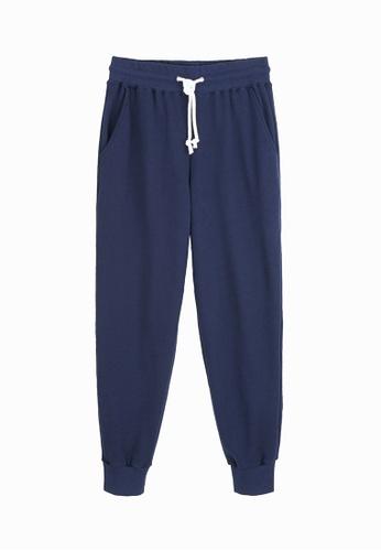 Life8 navy Home Long Pants-93014-Navy LI286US64JHBMY_1