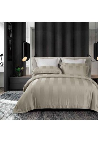 Epitex grey Cressent Dale Premium 1200TC Bamboo BD5804-4 Fitted Sheet Set 1ED74HL54B4992GS_1