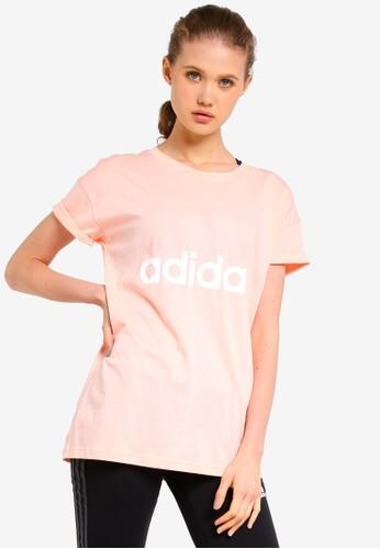 adidas pink adidas ess lin lo tee D266DAA7AB42B4GS_1