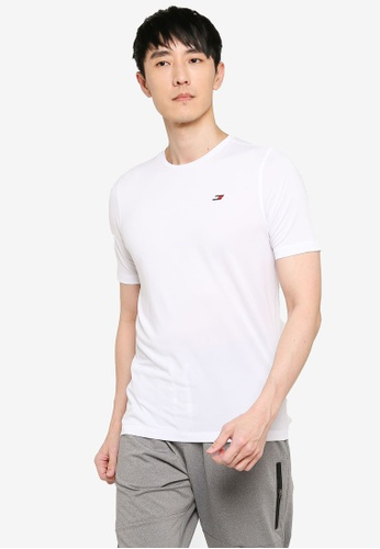 Tommy Hilfiger white Entry Workout Tee 96EE4AA4306042GS_1