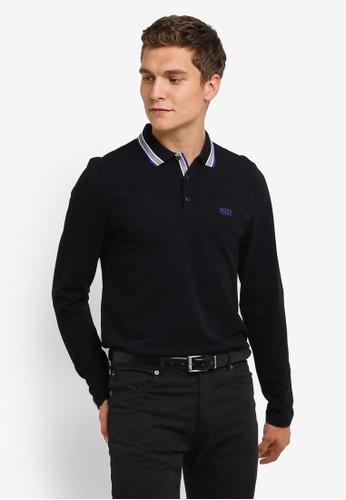 Boss Green black Plisy Polo Shirt BO516AA0RPNXMY_1